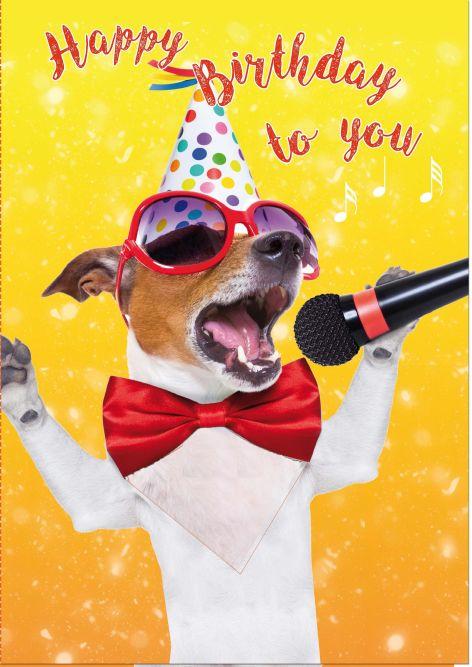Partyhund Touch-Karte mit Musik