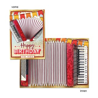 Great Cards Akkordeon - Happy Birthday - Spiele Akkordeon mir der Geburtstagskarte
