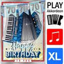 Great Cards Akkordeon - Zahl 70 - Happy Birthday - Spiel...
