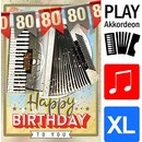Great Cards Akkordeon - Zahl 80 - Happy Birthday - Spiel...