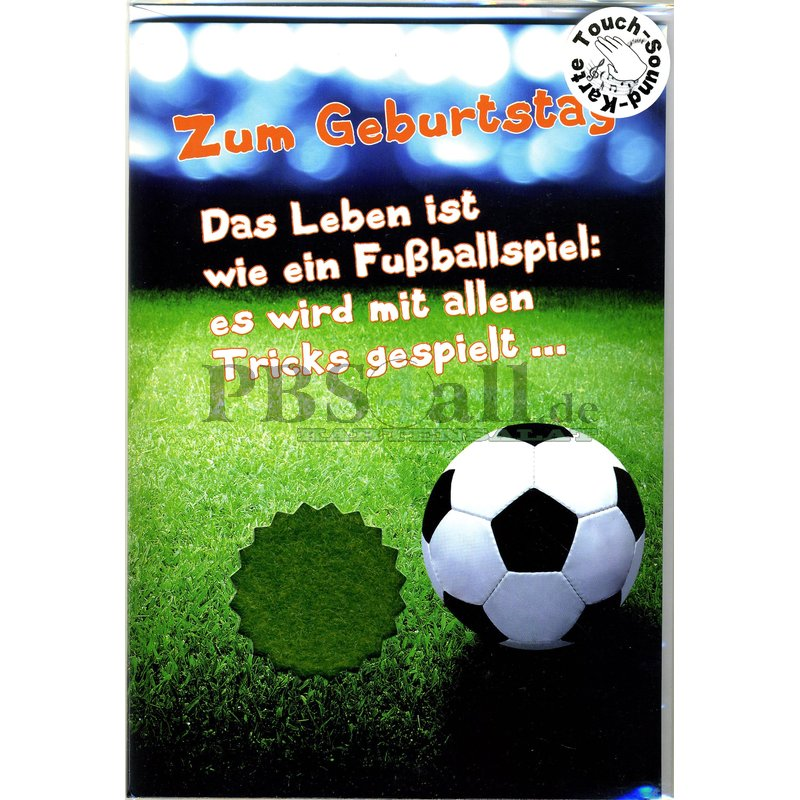 Geburtstagskarte Fussball