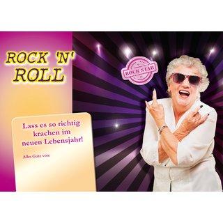 Geburtstagskarte mit Musik und Lichteffekte   Rock'n Roll Oma   Sound