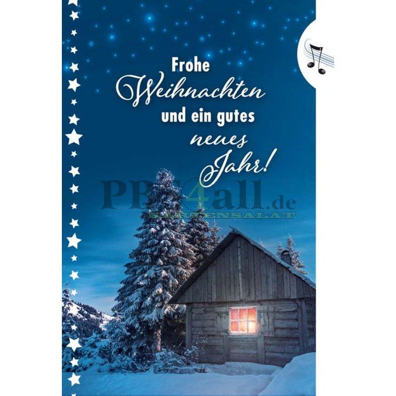 Weihnachtskarte mit Sound & Licht, stille Nacht - heilige Nacht..