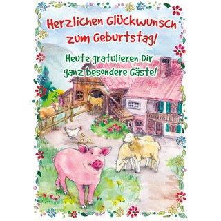 Touch Grusskarte Lachendes Pferd Geburtstagskarte Mit Musik Auf