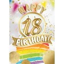 Great Cards Zahl 18 - Happy Birthday mit Kerzen ausblasen...