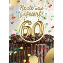Great Cards Zahl 60 - Happy Birthday mit Kerzen ausblasen...